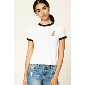 Forever 21 Hot Sauce Graphic Ringer Tee